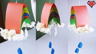 Easy DIY 3D Paper Rainbow Kids Crafts