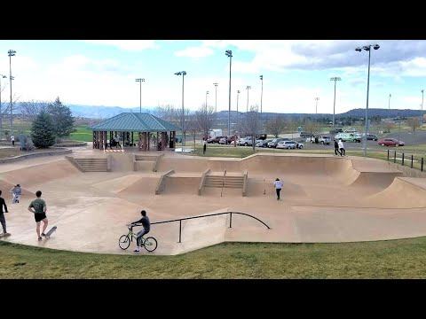 One Run Through The Castlerock Colorado Skate Park On My Dirt Jumper Bike