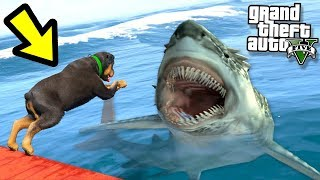 GTA 5 - Чоп против Водного Монстра! - Чоп vs Мегалодон в ГТА 5! (Кто выиграет?)