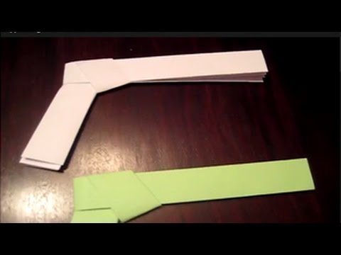 How To Make A Paper Pistol - a Gun - Origami