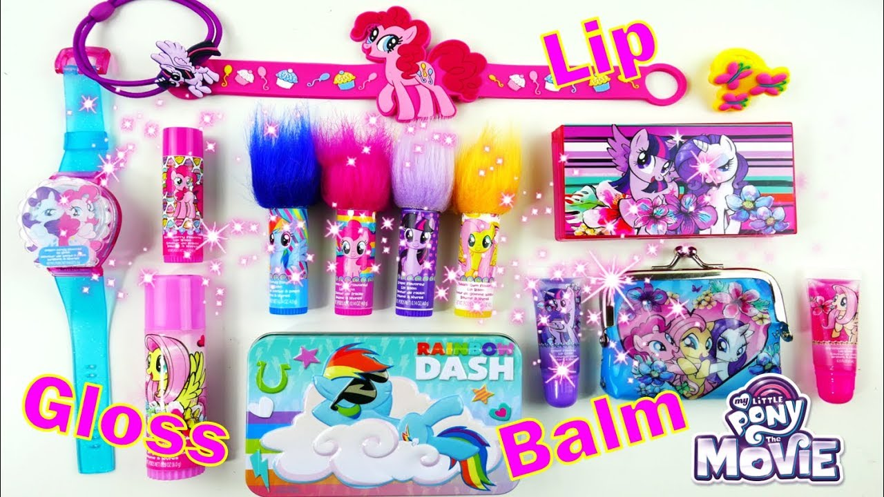 New My Little Pony Makeup Kits Lip Gloss Lip Balm and Surprises