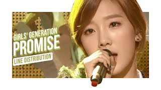 Girls' Generation - Promise (Line Distribution)