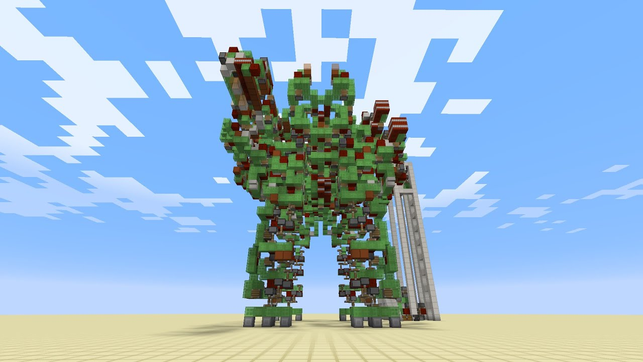 It's A Joy To Watch This Giant Minecraft Battle Robot Move
