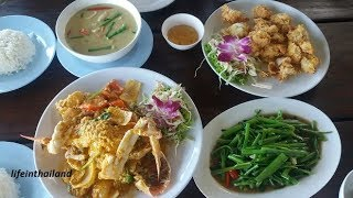 Amazing Seafood Lunch, Bang Bao, Koh Chang, Thailand.