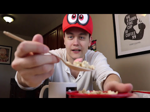 Nintendo is feeding me now. My Super Mario Cereal taste test! #freecereal