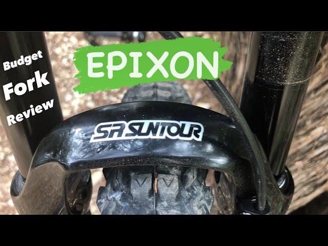 "Видео Вилка SR Suntour SF18 Epixon DS 9 RL R 27.5"", 100mm, черная"
