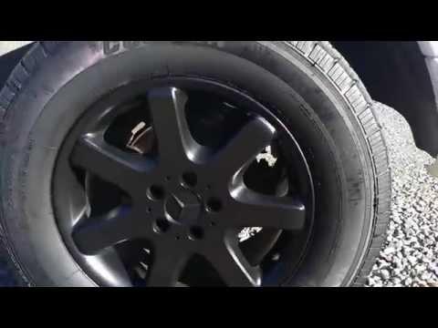 Satin black plastidip on Mercedes ml430