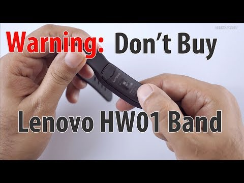 Warning: Don't Buy the Lenovo HW01 Smart Fitness Band