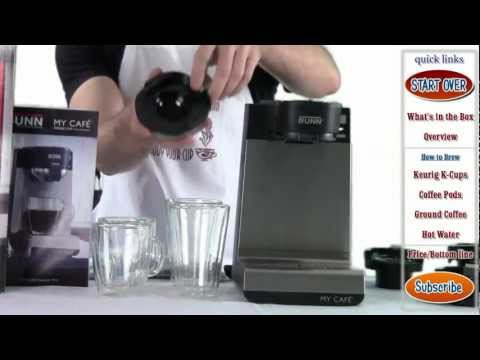 Review: BUNN MCU My Cafe Single Cup Multi-Use Brewer (k-cups, pods, ground coffee)