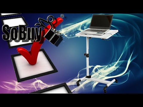 Hardware Check #01 Zusammen Bau - SoBuy XL Laptoptisch, Beistelltisch, FBT07N4-W