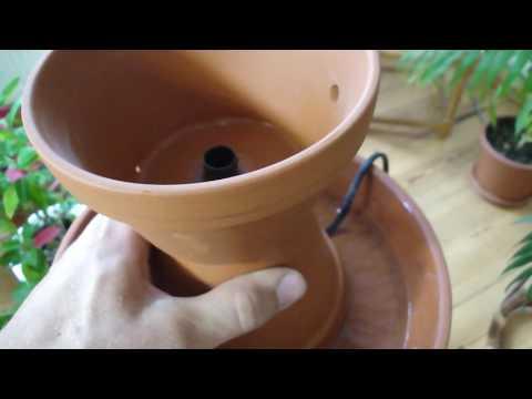 Springbrunnen aus Tontöpfen - Entspannung zum selber bauen