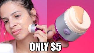 $5 VIBRATING FOUNDATION SPONGE | FLAWLESS FOUNDATION - Video Youtube