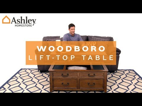 woodboro coffee table with lift top | ashley furniture homestore