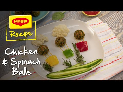 Chicken and Spinach Balls Recipe. MAGGI Recipes