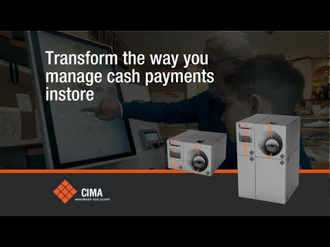 CIMA CASH@POS INLANE Touchless Cash Payment Solution