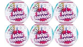 Zuru 5 Surprise Mini Brands Blind Box Unboxing Toy Review Mini Doll Foods