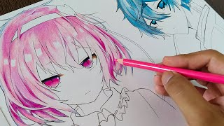 HOW TO COLOR ANIME HAIR WITH COLORED PENCILS | Step By Step Tutorial For Beginners