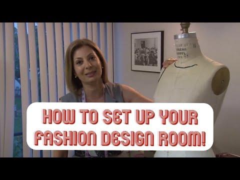 Fashion Unfolded: Fashion Design Room Set Up