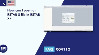 FAQ 004112 | How can I open an RSTAB 8 file in RSTAB 7?