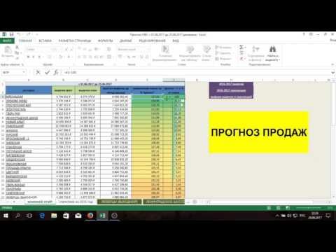 прогноз продаж в excel  (бизнес развитие)