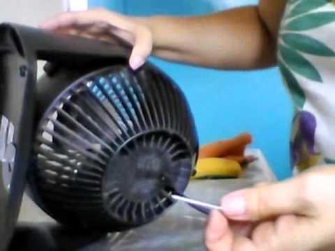 Como abrir o ventilador Honeywell para limpar - Parte 1