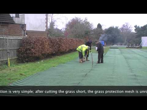 GrassProtecta Installation at Colets Health and Fitness