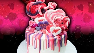 Valentines Day Rainbow Drip Candy Cake  From Cookies Cupcakes And Cardio