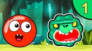 Несносный КРАСНЫЙ ШАР против монстров #1. Зелёные джунгли. Мультик ИГРА Red Ball на Игрули TV