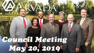 Preview image of Arvada City Council Meeting  - May 20, 2019
