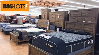 BIG LOTS BEDS BEDROOM HOME FURNITURE DRESSERS TABLES SHOP WITH ME SHOPPING STORE WALK THROUGH