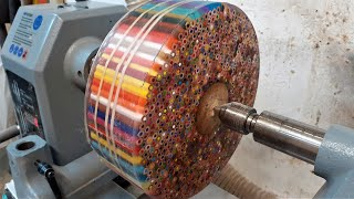 Woodturning - The Pencil Donut !!
