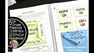 Fifth Grade Financial Literacy Interactive Notebook