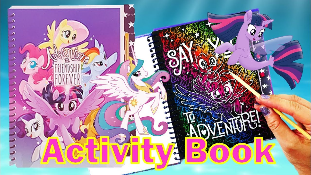 My Little Pony the Movie Activity Book Scratch & Sticker Journal