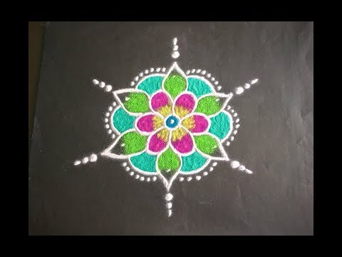 Flowers Rangoli Designs With Dots Flowers Healthy