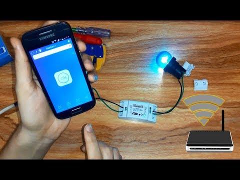 حول منزلك الى التحكم الذكى فى الكهرباء ب 150 جنية فقط - توصيل + البرمجة - جهاز sonoff