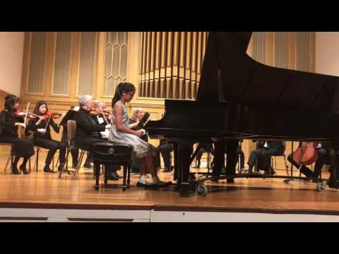 My Student Lauren Li. (11) Mozart Piano Concerto in A Major K. 414, I (2/2017)