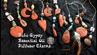 Boho Gypsy Essential Oil Diffuser Charms-D.I.Y.