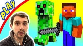ПРоХоДиМеЦ Знакомится со СТИВОМ! Первый день в МАЙНКРАФТЕ! #2 Игра для Детей - Майнкрафт
