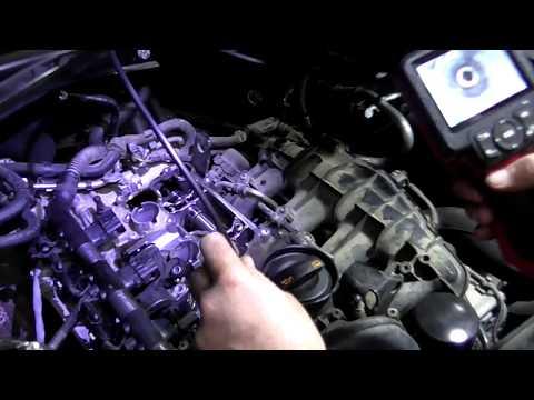 Фото к видео: Audi Q5 2.0 TFSI замена мембраны вентиляции картерных газов + очистка катализатора.