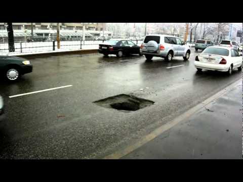 Mała dziura w drodze