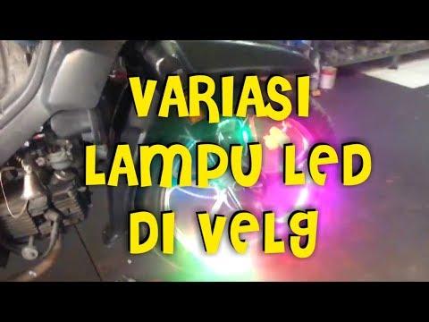 Video MODIFIKASI MOTOR DENGAN LAMPU LED DI VELG