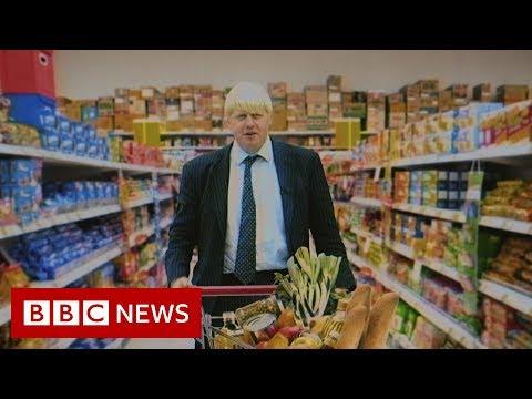 Boris Johnson goes undercover in a supermarket (1998) - BBC News