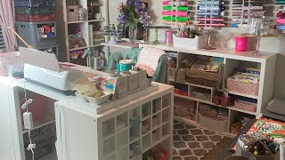 Craft Room Organization And Craft Room Tour + Ikea Craft Room