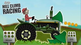 Мультики 2018 катаемся на тракторе в игре Hill Climb Racing машинки игры для мальчиков