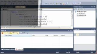 Visual Basic Tutorial - 10 - More On Math Operators