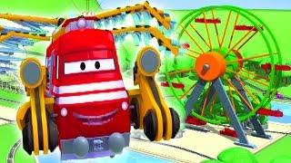 Поезд Трой и Воздушный поезд в Автомобильный Город   Мультфильм для детей