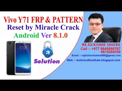 Vivo Y71 (1724) Pattern/Password Unlock Miracle Without Box | Vivo