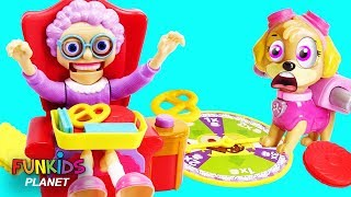 Paw Patrol Chase & Skye Plays Fun Greedy Granny Board Game