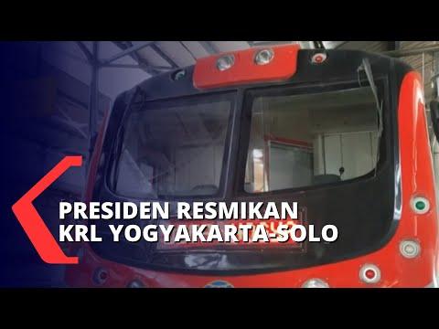 Presiden Jokowi Resmikan KRL Tujuan Yogyakarta - Solo