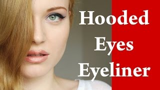 EYELINER makeup video tutorial for DOWNTURNED and HOODED eyes - Part 2
